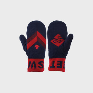 Knitted Retro Mittens, , hi-res