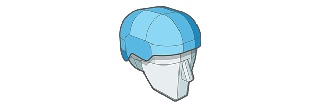 ABS Thermoplastic Shell Technologies of Sweet Protection helmet.
