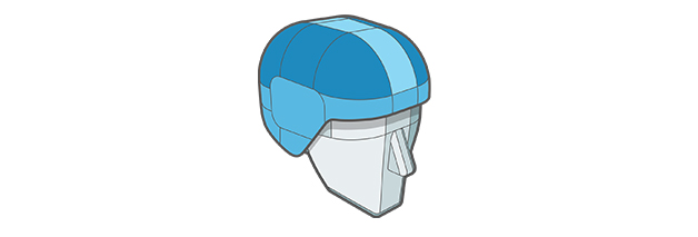 ABS Race Shell Technologies of Sweet Protection helmet.
