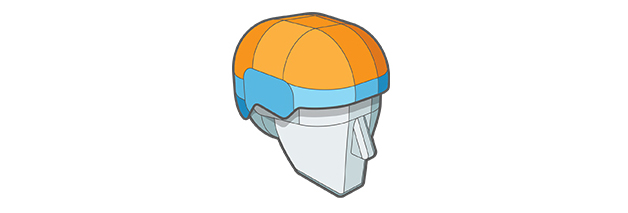 Variable Elasticity Advanced Hybrid Shell layer of Sweet Protection helmet.