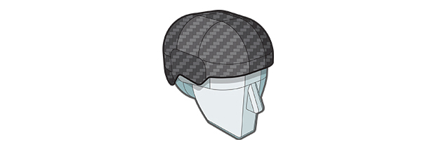 Carbon Fiber Reinforced Polymer Shell layer of Sweet Protection helmet.