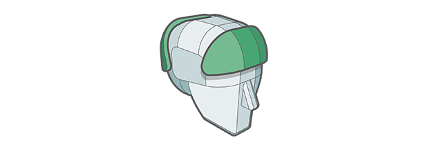 Impact Shields feature of Sweet Protection helmet.