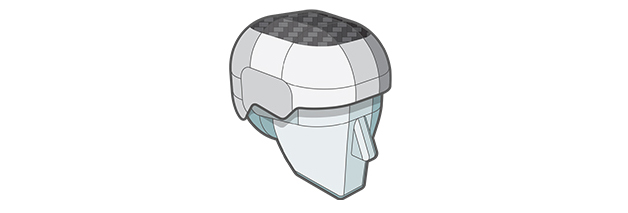 Composite Drop Impact Protection (CDIP) Shell layer of Sweet Protection helmet.