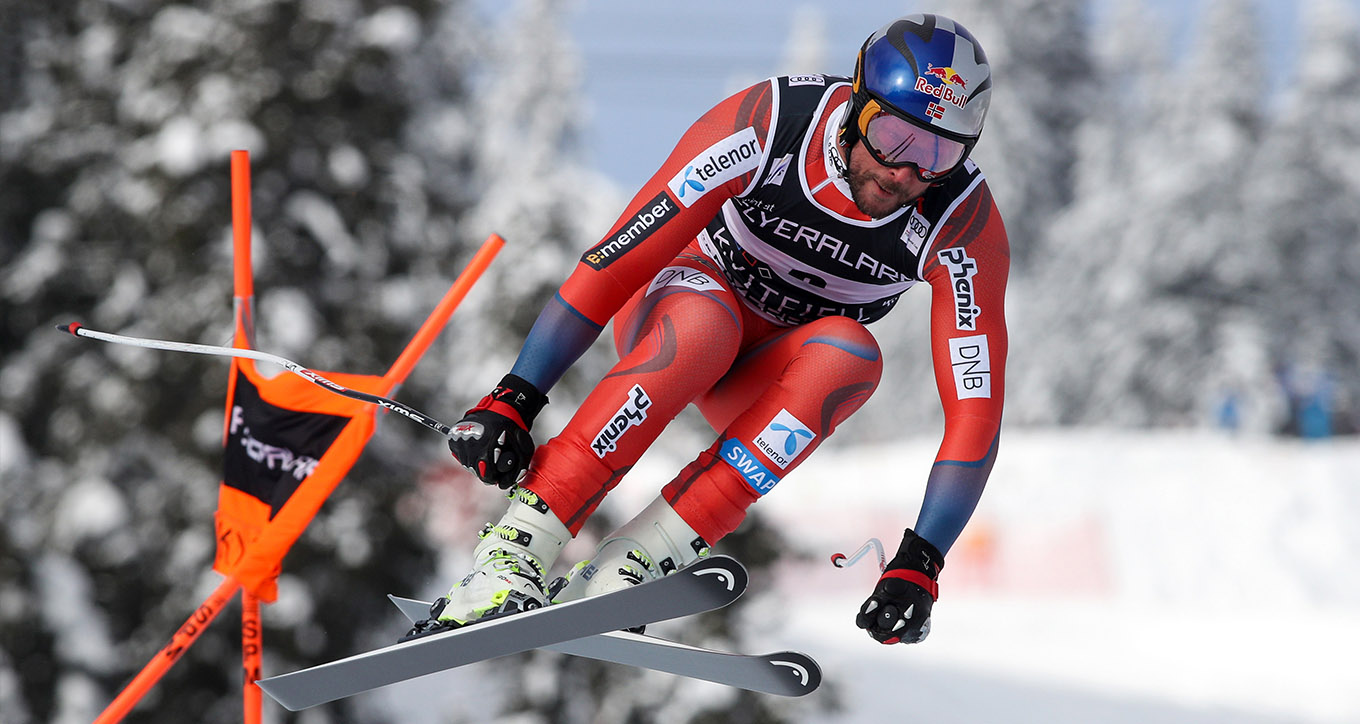 Aksel Lund Svindal  racing with the Volata Helmet