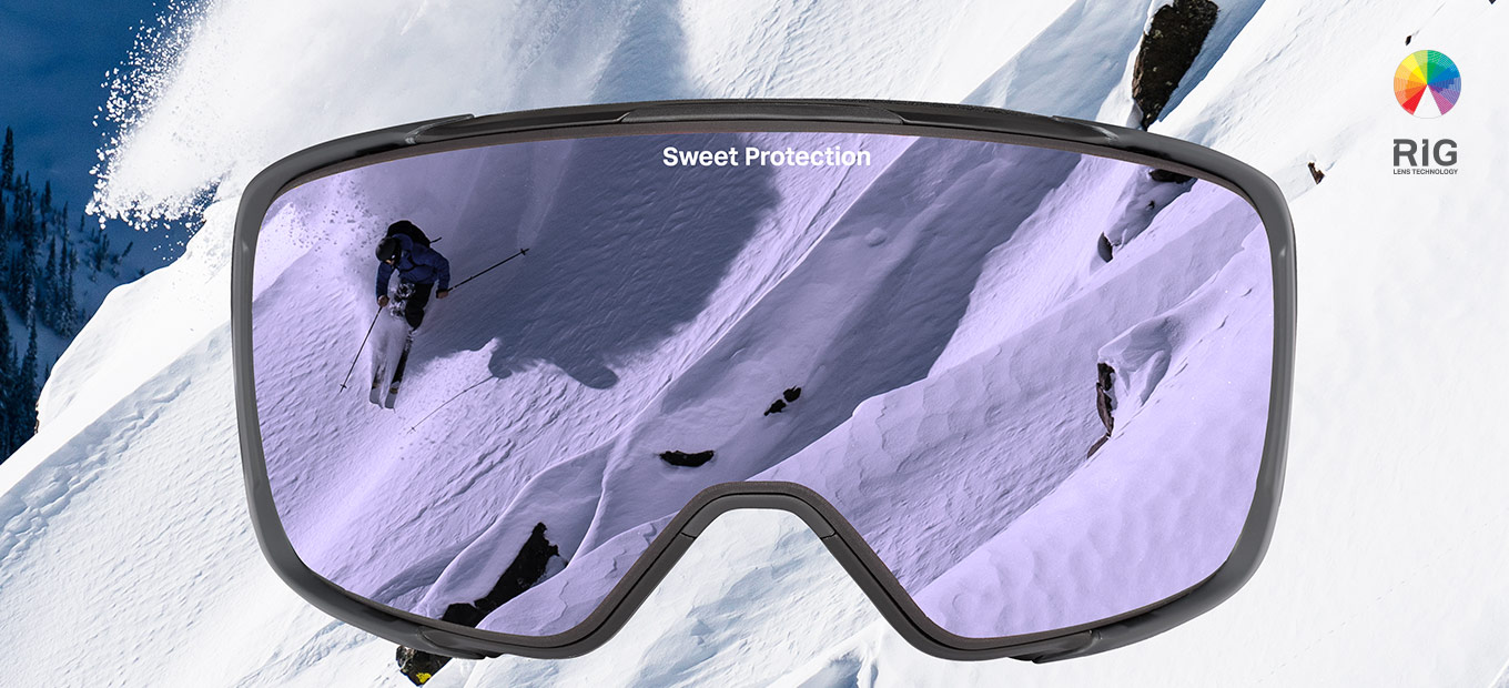 Pep Fujas skiing down the mountain with Sweet Protection gear